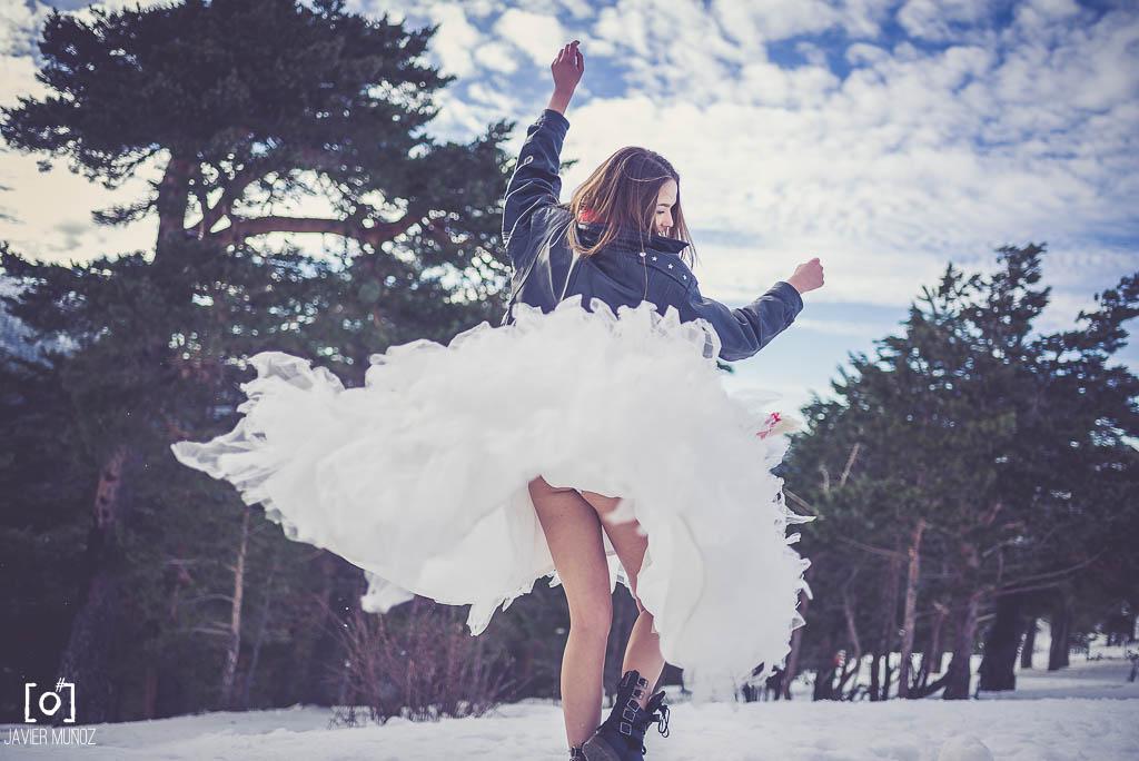 Botas en la nieve